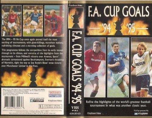 Preisvergleich Produktbild F.a.Cup Goals 1994 / 95 [VHS] [UK Import]