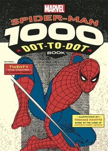marvels-spider-man-1000-dot-to-dot-book-twenty-comic-characters-to-complete-yourself-dot-to-dot-book