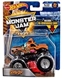 SCOOBY-DOO HOT WHEELS MONSTER JAM TRUCK MJ DOG POUND 1/6 w/ RE-CRUSHABLE CAR 2018
