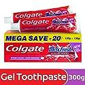 Colgate MaxFresh Anticavity Toothpaste Gel, Spicy Fresh - 300gm (Saver Pack)