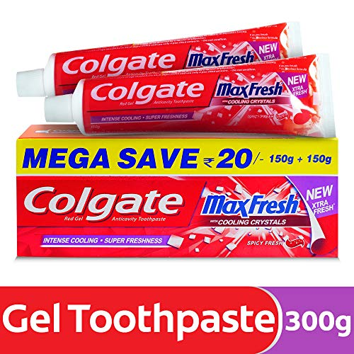 Colgate MaxFresh Anticavity Toothpaste Gel, Spicy Fresh - 300gm (Saver Pack)