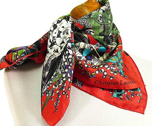 christian-lacroix-foulard-soie-jardin-exochic-rouge