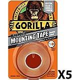 Gorilla Glue 30441011,5m Heavy Duty cinta de montaje de doble cara, transparente