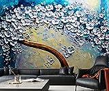 Wh-Porp Benutzerdefinierte Wallpaper Europäischen Dolch Handwerk Riesen Brunnen Baum Gemälde Fresko Dekorative Hintergrund 3D Wallpaper Wandbild-200Cmx140Cm