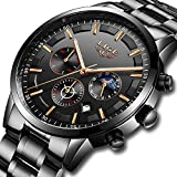 Best Mens Watches Under 500s - LIGE Mens Watches Waterproof Stainless Steel Sport Analogue Review