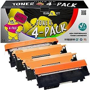 Yellow Yeti 4 Premium Toner Kompatibel Für Samsung Xpress Sl C430 C430w Sl C480 C480fn C480fw C480w Clt P404c Clt K404s Clt C404s Clt M404s Clt Y404s Bürobedarf Schreibwaren