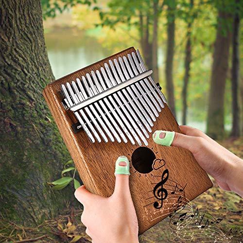 Kalimba 17 Daumenklavier Kalimba Instrument Thumb Piano - Tasten Massivholz Afican Mbria Instrument Finger Piano Kit mit Tragetasche,Musik Buch,Musical Scale Aufkleber,Tuning Hammer