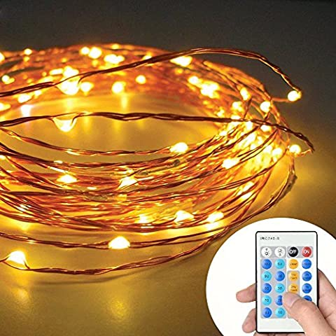 33ft 100LED Remote Controlled Copper Wire Fairy Starry String Lights