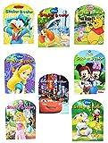 3 Stück: Malheft A4 / Malbuch mit 32 Sticker - 32 Seiten - für Mädchen - große Malvorlagen - Disney Cars - Princess - Tiere - Bambi - König der Löwen - Mickey Mouse u.v.m. - Malbücher Ausmalbilder Aufkleber