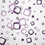 WANDfee® Wandtattoo 60 Vierecke FARBWUNSCH Farbe lila flieder zweifarbig bunte moderne Wanddeko selbstklebende retro Cubes Quadrate Wandaufkleber Wandsticker Fliesenaufkleber Dekoration Deko Aufkleber