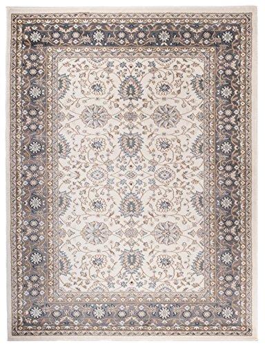 Alfombra 250 x 350 cm XL Grandes Beige Oriental Decoración Ornamental Diseño/Carpeto Colección Ayla