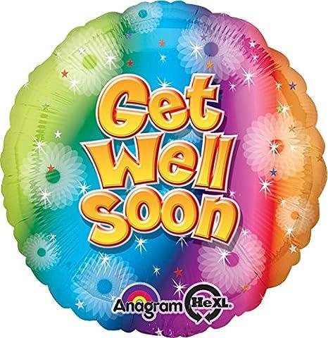 Amscan-get well circle foil balloon hS40 soon