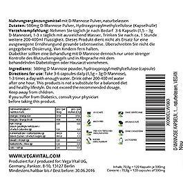 D-MANNOSIO Vegavero® | con ZINCO | Benessere vie urinarie per CISTITE e PROSTATA | 120 capsule | Vegan