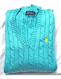 Ralph Lauren Pull en tricot pour femmes, Pulls Tricots Polo Taille XS-XL Turquoise NOUVEAU