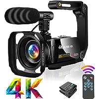 """Videocamera Ultra HD 4K Videocamere 30MP 18X Digital Zoom Videocamera 3.0"""" LCD Touch Screen Ruotabile Videocamera per…"""