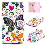 Jepson LG LEON LTE / C40 / H340N H320 (4,5 Zoll) Lederhülle Flip Case / Cover / Handyhülle. Bunt Nette romantische Muster und PU leder Folio Folding Bookstyle Schutzhülle - hülle mit Standfunktion, Brieftasche und Karte Tasche.