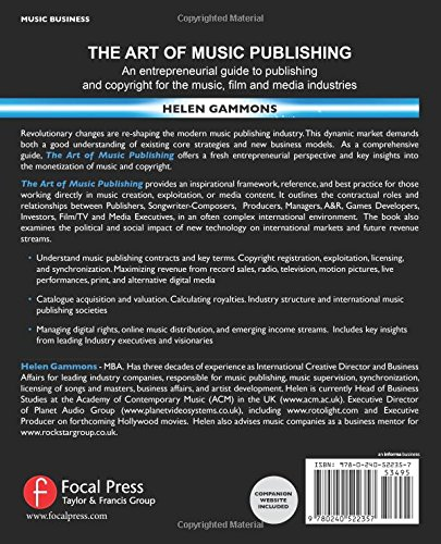 The Art of Music Publishing: An Entrepreneurial Guide to Publishing and Copyright for the Music, Film and Media Industries