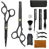 Wrei tijeras de peluquería, Conjunto Tijeras Peluquelo Profesional para el cabello, tijeras de peluquería con capa de barbero