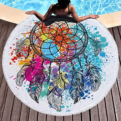 Tianya ★ Textiles para el hogar Nuevo diseño con imagen de lujo Borla redonda Toalla de playa Arena Playa Cubre Bikini