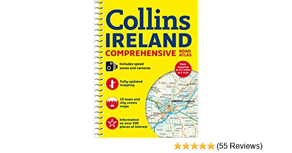 Comprehensive Road Atlas Ireland: Amazon.co.uk: Collins Maps ...