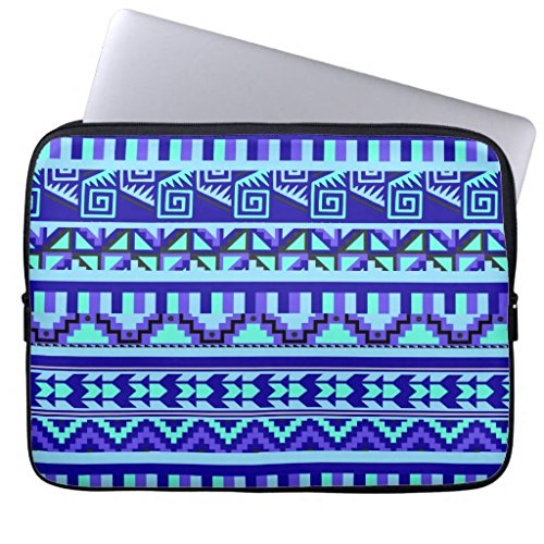 Art Computer Sleeve 11.6 12 Inch Blue Geometric Abstract Aztec Tribal Pattern Laptop Sleeve 12¡± Netbook Envelope Carrying Protector Cover Sleeve for Apple MacBook Acer Samsung Ultrabook Asus Fujitsu (Aztec Acer-laptop-tasche)