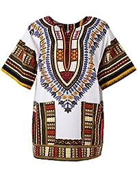 D DOLITY Ropa para Mujer o Hombre Colores Estilo étnico Vestido de Verano Tallas Grandes -