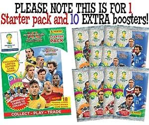 OFFICIEL Panini Adrenalyn Coupe du Monde 2014 au Brésil XL Starter Binder (RANDOM LIMITED CARD) + 10 Les boosters supplémentaires