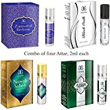 Arochem Zannatul Firdaus, Black Oudh ,Nawab Saheb and Azaan Attar, Combo of 4, 2ml each
