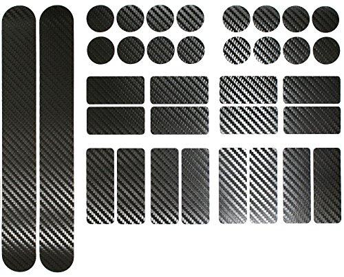 Carbon Schwarz Fahrrad Aufkleber von Finest-Folia Rahmen Schutz Folie MTB BMX Ketten Streben