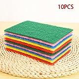 Asciugamani da cucina, 10 pezzi / set Strofinacci pulenti multiuso - Asciugamani in microfibra bifacciali - Tampone abrasivo per olio antiaderente - Prodotti per la pulizia della cucina