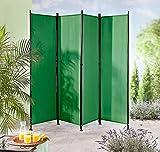 IMC Manufactoria Paravent Raumteiler Trennwand grün 4-teilig - flexibel verstellbar