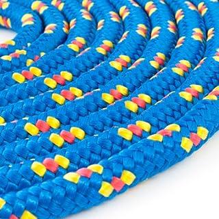 100m POLYPROPYLENSEIL 5mm BLAU Polypropylen Seil Tauwerk PP Flechtleine Textilseil Reepschnur Leine Schnur Festmacher Rope Kunststoffseil Polyseil geflochten