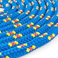1m POLYPROPYLENSEIL 8mm BLAU Polypropylen Seil Tauwerk PP Flechtleine Textilseil Reepschnur Leine Schnur Festmacher Rope Kunststoffseil Polyseil geflochten