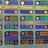 #9: Hologram Stickers GENUINE LEHER Rounded Corner 14X14mm of 10000 Stickers)