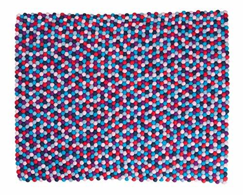 Sainyukta: rechteckig Baby-Teppich bunter weicher Textur Wolle Tresor,Felt Balls Ausverkauf (300cm x...