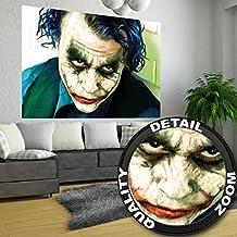 Póster joker Mural Decoración Heath Ledger Batman El caballero oscuro Payasos Película Gotham Villano DC cómic Universo DC | foto póster mural imagen deco pared by GREAT ART (140 x 100 cm)