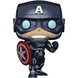 Funko - Pop! Marvel: Avengers Game - Capt America Figurina, Multicolor (47757)