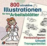 Produkt-Bild: 800 attraktive Illustrationen für Ihre Arbeitsblätter. CD-ROM ab Windos 95. Themen: Fantasiefiguren, Umwelt, Transportmittel.  (Lernmaterialien)