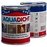 Aqua Dicht - reparatie vezelafdichtmiddel 1 l blik grijs - dicht direct bij alle weersomstandigheden