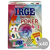Irge Set 40 AcchiappaColore Poker 4in1 X 6 Bustine Detergenti casa