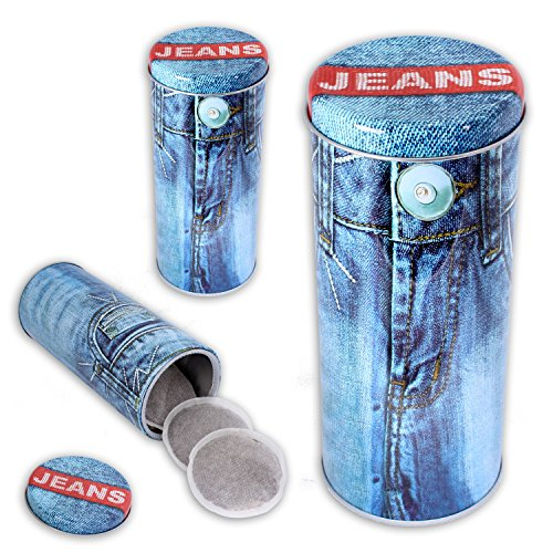 Paddose, Frischhaltedose, Modell 'BlueJeans' im 3er Set Aufbewahrungsbox im Kaffeedesign