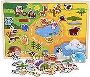 VanStar 296 pcs Mushroom Nails Pegboard Educational Colourful Jigsaw Puzzle Building Blocks Bricks Creative DI