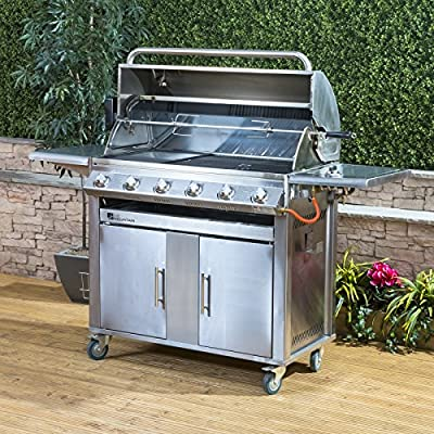 Fire Mountain Premier Stainless Steel 6 Burner Gas Barbecue with Free Gas Regulator and Hose from Fire Mountain