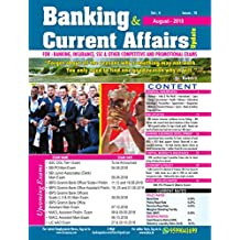 BANKING & CURRENT AFFAIRS UPDATE  August ISSUE (ENGLISH MEDIUM)