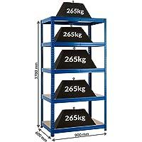Rayonnage pour charges lourdes – Solide - Charge max. par étagère : 265 kg -