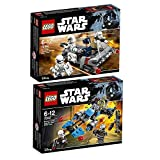 Lego Star Wars 2er Set 75166 75167 + First Order Transport Speeder + Bounty Hunter Speed Bike
