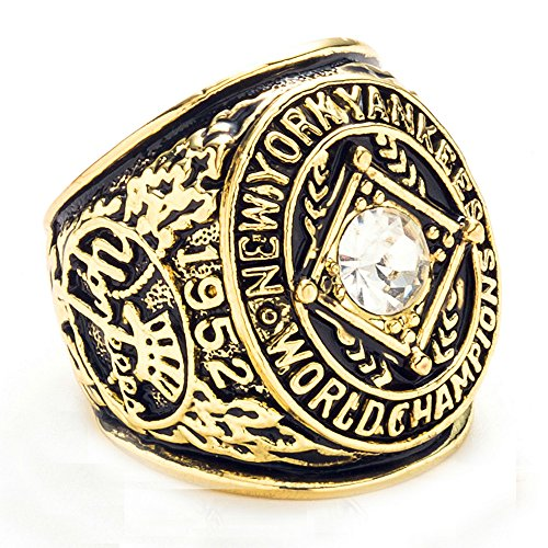 ZNKVJ Die 1952 Jahr Mens New York Yankees Meisterschaft Ringe,Größe 67 (21.3) -