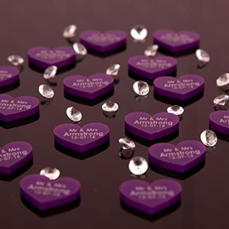 100 Purple Acrylic Wedding Table Decorations Amazon Co Uk Kitchen