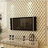 Vliestapete Weiche Tapete, 3D Wandpaneele für TV Wände/Sofa Hintergrund Wall Decor, (weiß, lila, goldgelb, rot, braun), white
