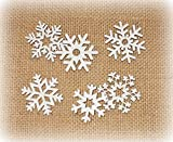 Streudeko 'Schneeflocke' aus Holz 24er-Set